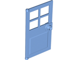Door 1 x 4 x 6 with 4 Panes and Stud Handle, Medium Blue (60623 / 6052993)