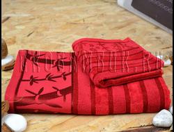 Бамбуковое полотенце Спорт класса бордо 48х98
