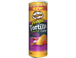 "Чипсы ""Pringles Tortilla Chips Smokey BBQ"""