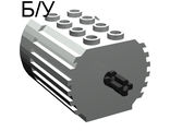 ! Б/У - Electric, Motor 4.5V Type 2 for 2-prong connectors WITH middle pin, Light Gray (6216m2) - Б/У