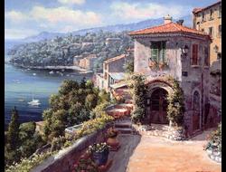 Картины раскраски по номерам Дом на побережье, худ. Сунг Сам Парк