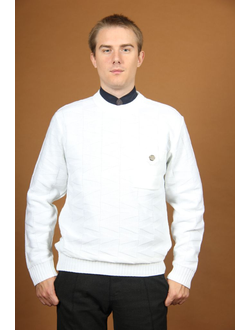 """Осенне-весенний мужской свитер Модель В567Д """"Белая"""""""