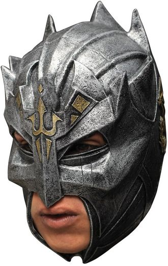 страшная маска, латексная, шлем, воин, рыцарь, на голову, металлический, солдат, забрало, тамплиер