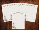"""Бумага для писем 5 листов """"Винтажный маяк"""""""