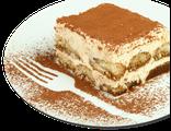 Тирамису: итальянский десерт с крем-сыром Маскарпоне, кофе, ликер Амаретто, 110 гр, 475 Ккал