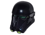 Large Figure Head Modified SW Death Trooper with Dark Green Core and Lime Circles Pattern, Black (26911c01pb01 / 6157722)