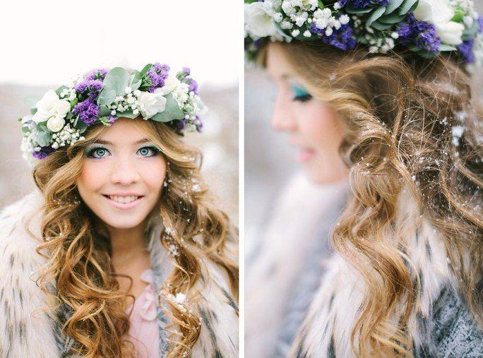 Венки из искусственных цветов на голову