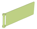 Flag 7 x 3 with Rod, Trans-Bright Green (30292 / 6175981)