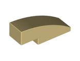 Slope, Curved 3 x 1 No Studs, Tan (50950 / 4624088)