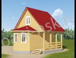 Строительство домов из бруса 6 на 6 - Д17