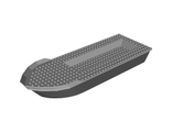 Boat Hull Unitary 41 x 12 x 5 with Light Bluish Gray Top Complete Assembly, Black (23997c01 / 6135263)