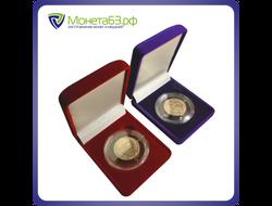 футляр (бархат) на одну монету в капсуле