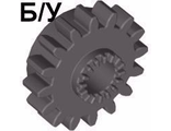! Б/У - Technic, Gear 16 Tooth with Clutch, Dark Gray (6542 / 654227) - Б/У