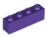 Brick 1 x 4, Dark Purple (3010 / 4224855 / 4640611 / 6185995)