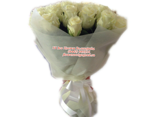 21 роза белая букет Все Мечты