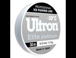 Леска ULTRON Elite Platinum 0,10 мм, 100 м, 1,3 кг, серебр. (уп.5 шт)