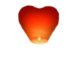 Небесный фонарик сердце (малый конус)  Красный