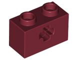 Technic, Brick 1 x 2 with Axle Hole, Dark Red (32064 / 4233492 / 4539059 / 6206250)