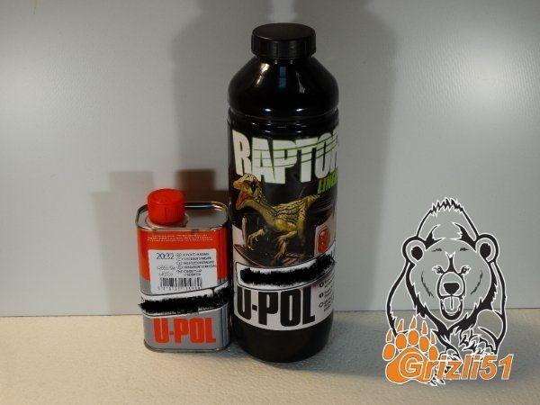 RAPTOR™ U-POL колеруемый комплект 1л. (бутылка+отвердитель)