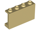 Panel 1 x 4 x 2 with Side Supports - Hollow Studs, Tan (14718 / 6195544)