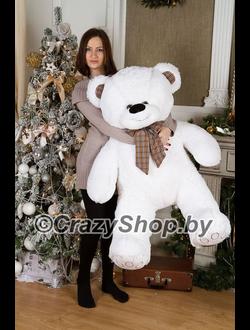 """Плюшевый медведь """"Тони"""" белый 140 см."""