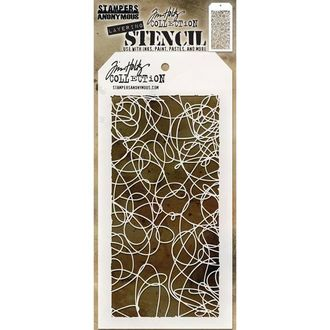 Doodle трафарет Tim Holtz