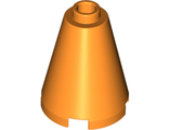 Cone 2 x 2 x 2 - Completely Open Stud, Orange (3942c / 4213119 / 6022148 / 6062601)
