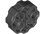Technic, Axle Connector Block Round with 2 Pin Holes and 3 Axle Holes Hero Factory Weapon Barrel, Black (98585 / 6156897 / 6186133)