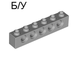 ! Б/У - Technic, Brick 1 x 6 with Holes, Light Bluish Gray (3894 / 4211466) - Б/У