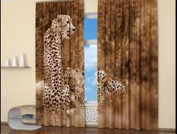 Фотошторы: Оскал леопарда
