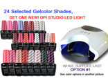 OPI Studio LED Light + 24 шт OPI GelColor Kit №1