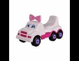 Детская каталка Машинка Весёлые гонки белая