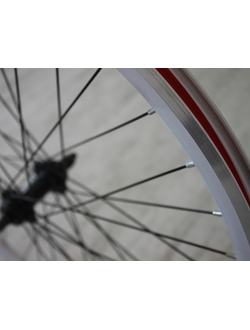 """Заднее колесо 26"""" V-break трещотка белое двойной обод"""