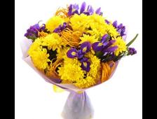 Желтая Хризантема и Ирис