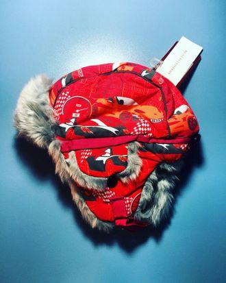 Теплая зимняя шапка-ушанка Reike модель Тачки