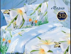 МАРИЯ.  Комплект постельного белья из набивной бязи традиции текстиля, цельнокройное, хлопок 100%