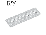 ! Б/У - Technic, Plate 2 x 8 with 7 Holes, White (3738 / 4527945) - Б/У