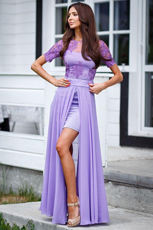 eae0833c4f5 Платье-трансформер цвет сирень (П-30-10) купить в Екатеринбурге ...