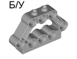 ! Б/У - Technic, Pin Connector Block 1 x 5 x 3, Light Bluish Gray (32333 / 4158877 / 4205761) - Б/У