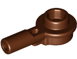 Bar   1L with 1 x 1 Round Plate with Hollow Stud, Reddish Brown (32828 / 6233909 / 6306775)