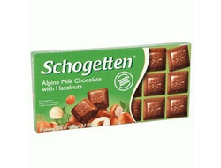 Schogetten Alpine Milk Chocolate with Hazelnut 100g (Германия)