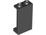 Panel 1 x 2 x 3 with Side Supports - Hollow Studs, Black (87544 / 4585452 / 4614788)