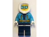 Arctic Explorer Female - Fur-Lined Hood, Light Blue Ski Goggles, n/a (cty0926)