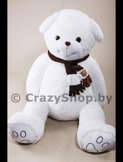 """Плюшевый медведь """"Доминик"""" белый 210 см."""