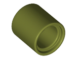 Technic, Pin Connector Round 2/3 L, Olive Green (18654 / 6278105)