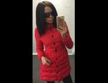 Женская весенняя куртка красная 002-023