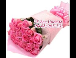 23 роз букетом розовый микс
