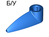 ! Б/У - Bionicle 1 x 3 Tooth with Axle Hole, Blue (x346 / 4185662) - Б/У