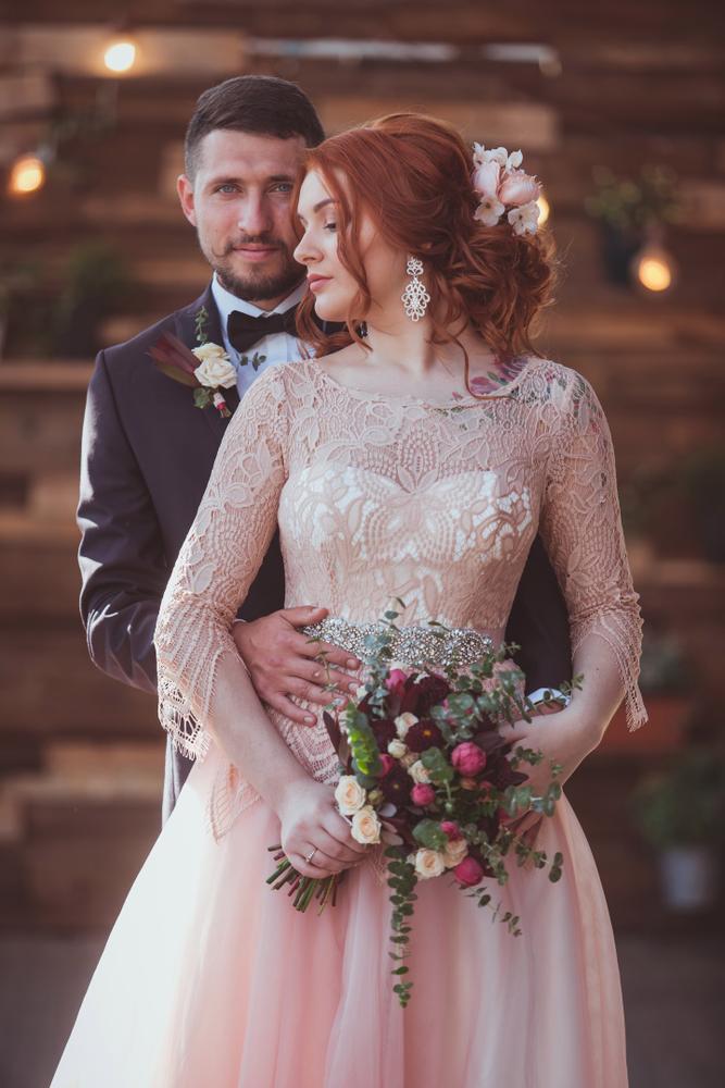 f25bc059f1dd8cf Великолепная Марианна в свадебное платье Vesta. Изделие шилось на заказ по  индивидуальным параметрам невесты, в пудренно-розовом и айвори цвете.
