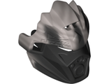 Bionicle Mask of Earth Unity with Marbled Flat Silver Pattern, Black (24154pb01 / 6135008)